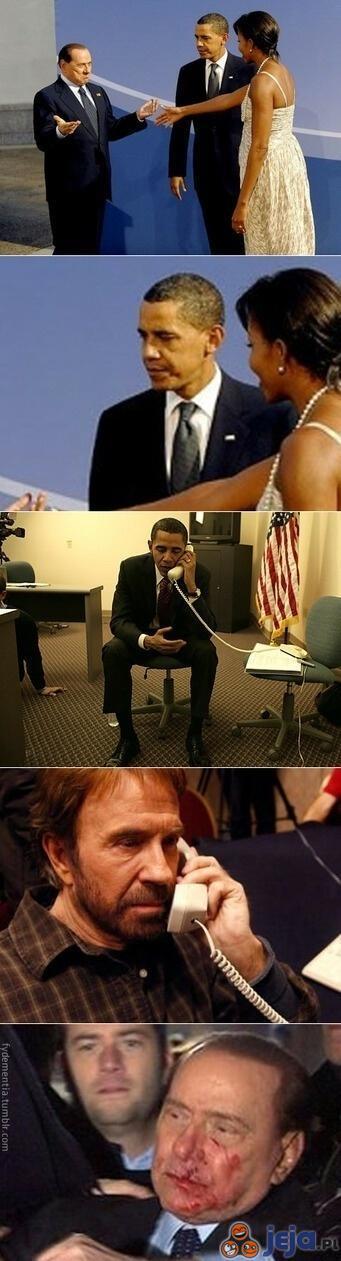 Berlusconi vs Obama