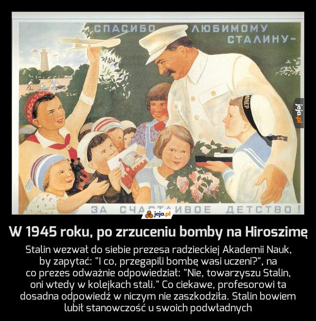 Anegdotka o Stalinie