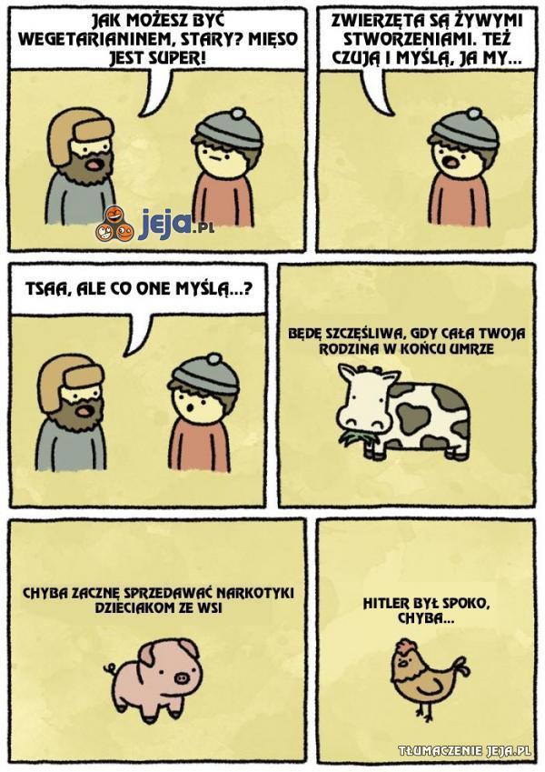Zwierzęta też czują i myślą...