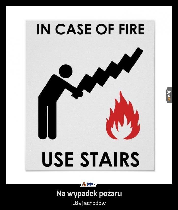 Na wypadek pożaru