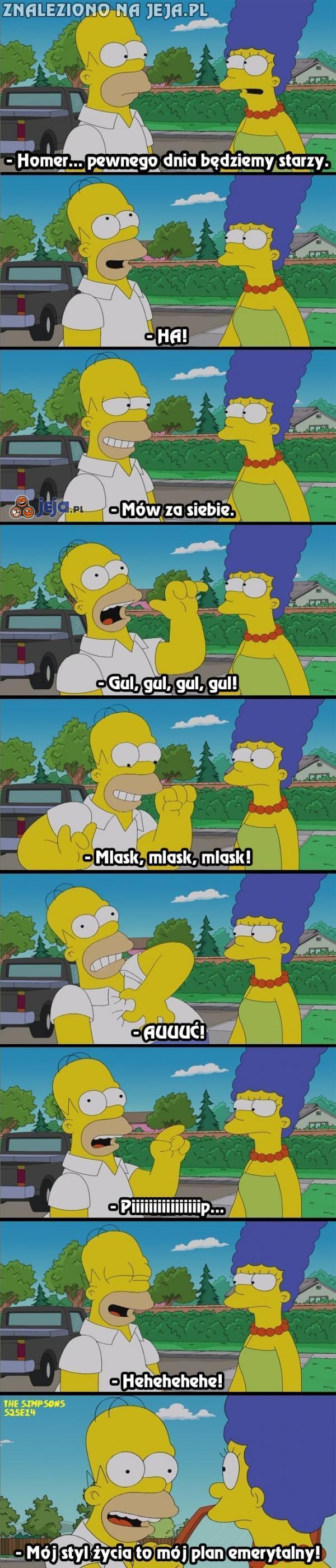Homer wie, jak odejść z klasą!
