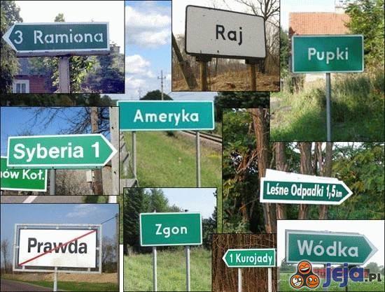 Nazwy miejscowości...