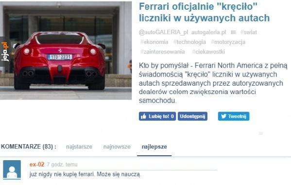 Wpadka Ferrari