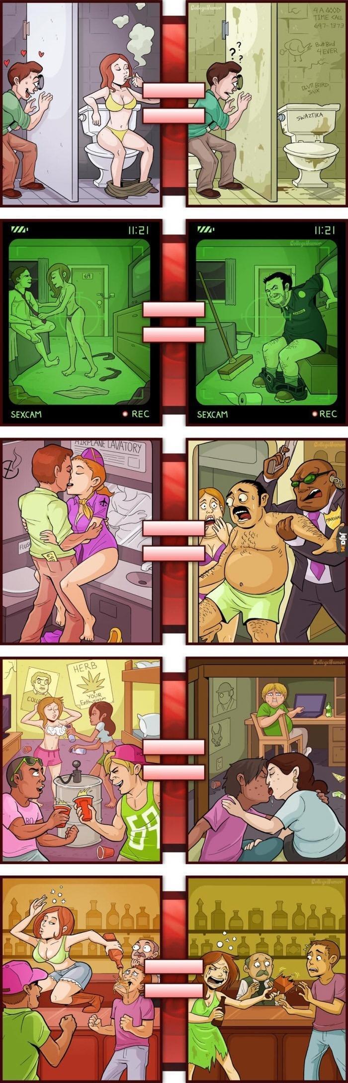 Filmy dla dorosłych vs Prawdziwe życie