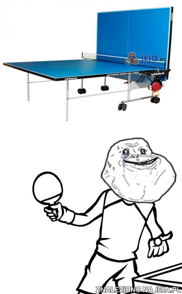 Samotne granie w ping ponga