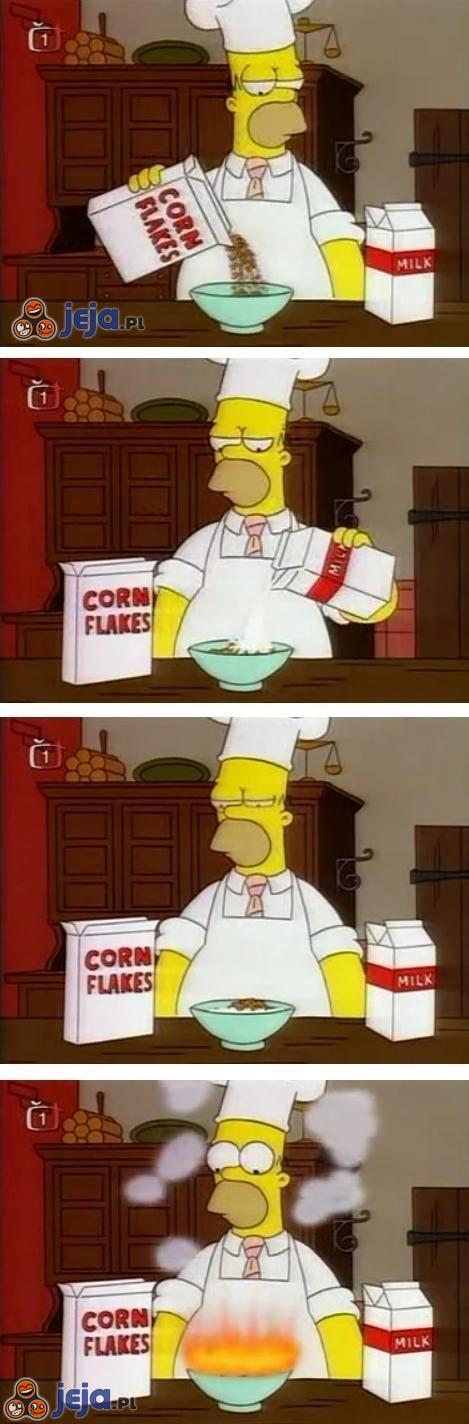 Homer w kuchni