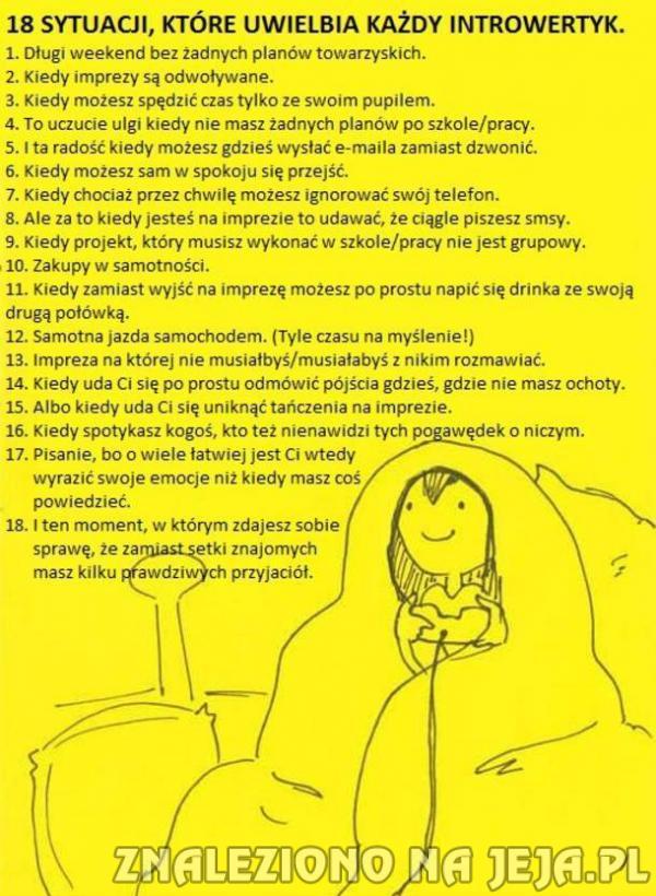 18 sytuacji, które uwielbia każdy introwertyk