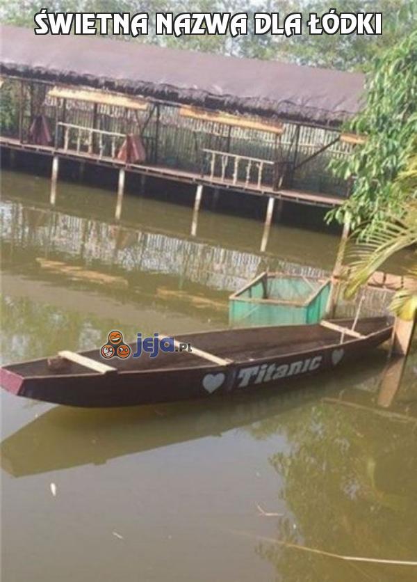 Świetna nazwa dla łódki