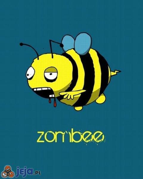 Żywy pszczeli trup