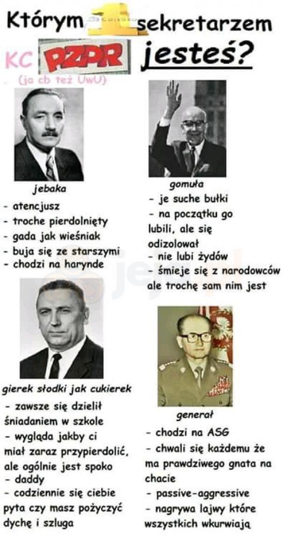 Którym pierwszym sekretarzem PZPR jesteś?