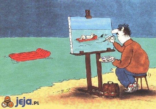 Portret nad morzem
