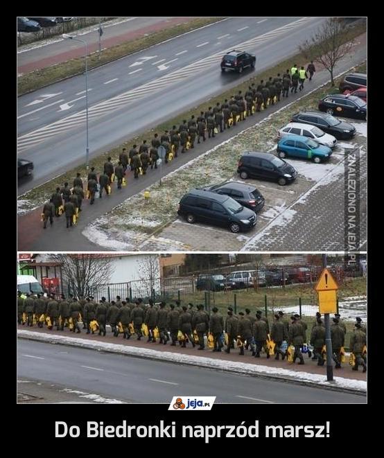 Do Biedronki naprzód marsz!