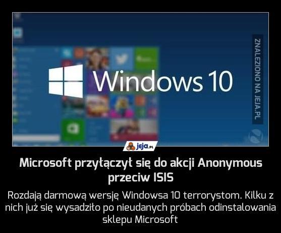 Microsoft przyłączył się do akcji Anonymous przeciw ISIS