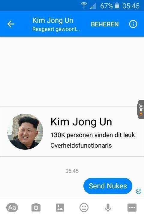 Prośba do Kim Jong Una