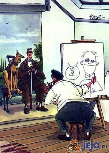 Portret  niewidomego