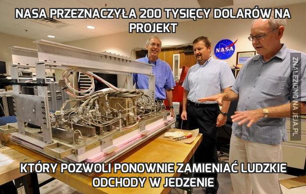 Nasa przeznaczyła 200 tysięcy dolarów na projekt