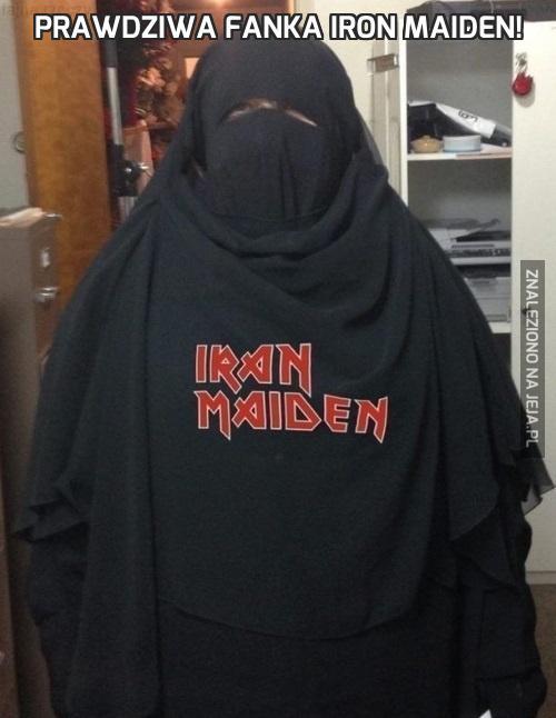Prawdziwa fanka Iron Maiden!