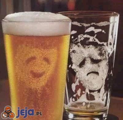 Piwo - przed i po