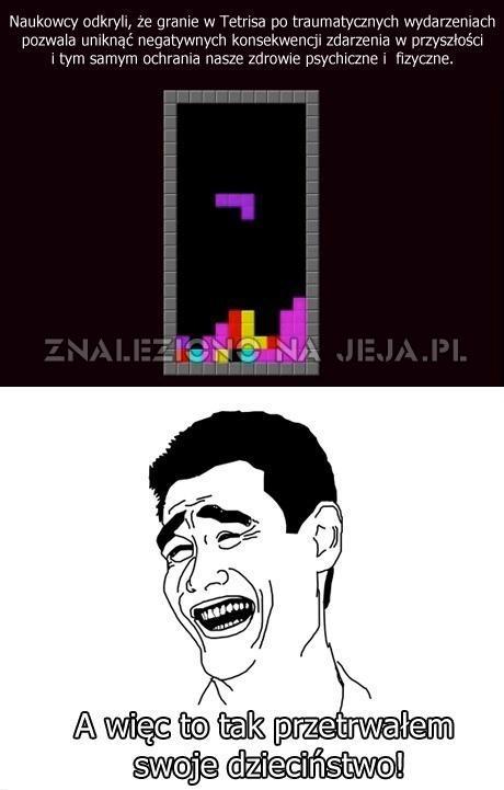Granie w Tetrisa odstresowuje
