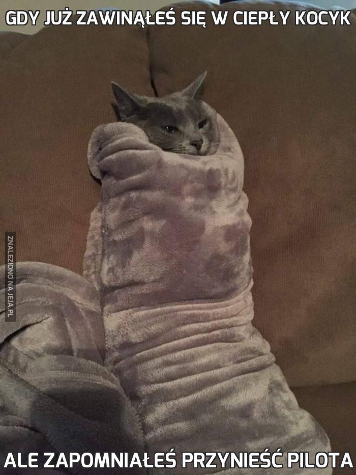 Gdy już zawinąłeś się w ciepły kocyk