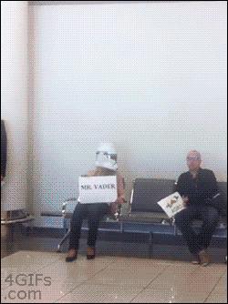 Oczekiwanie na lotnisku