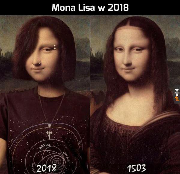 Współczesna Mona Lisa