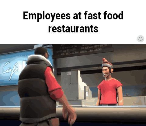 Ekspedienci w fast foodach