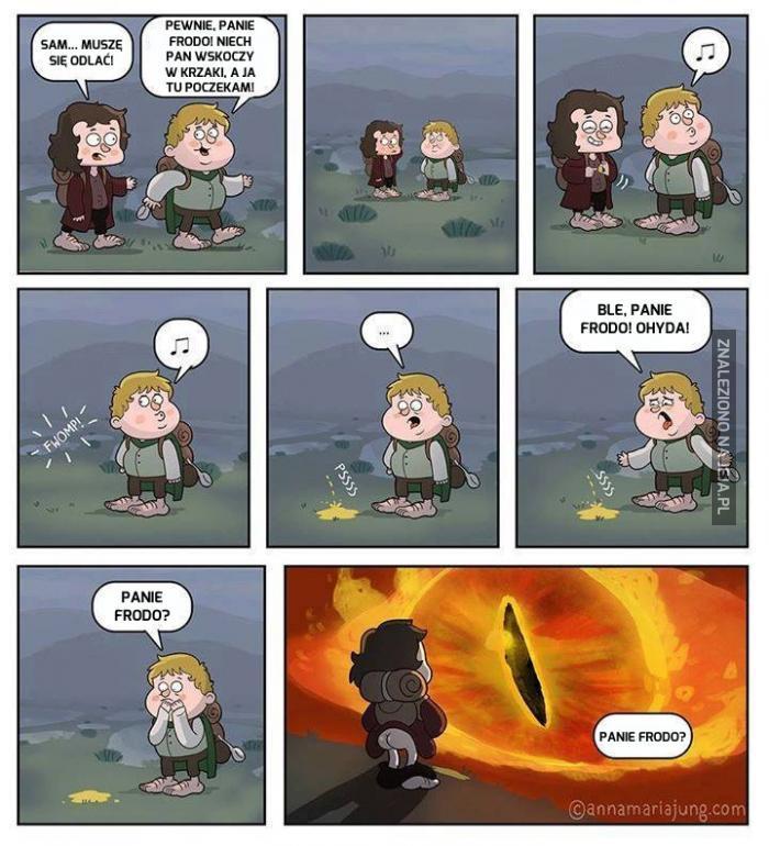 Panie Frodo, co pan wyrabia?
