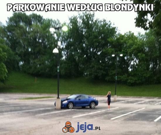 Parkowanie według blondynki