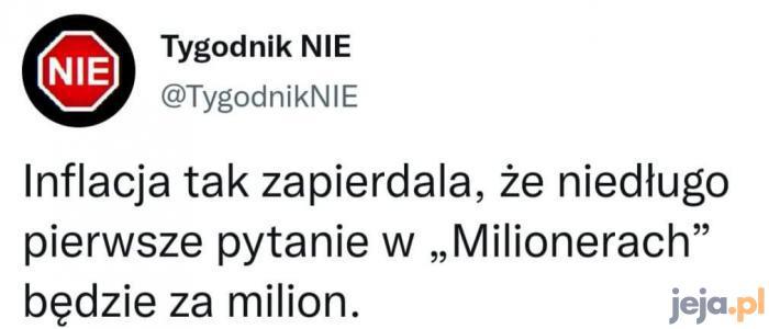 Panie Jacku, teraz pytanie za 70 milionów