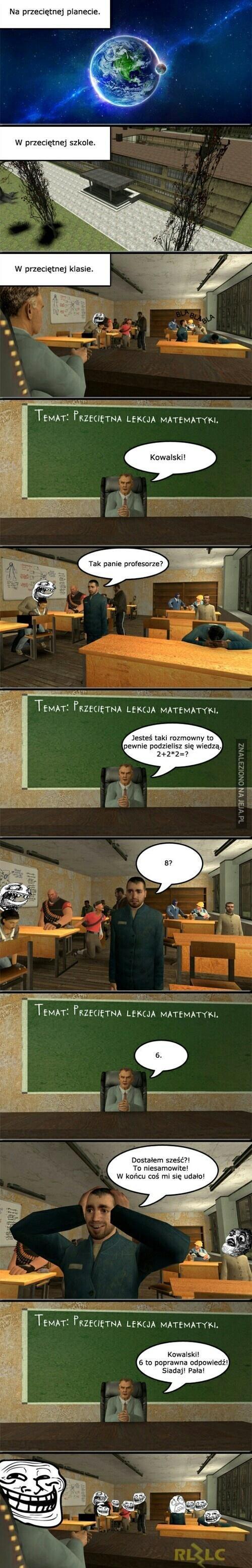 Przeciętna lekcja matematyki