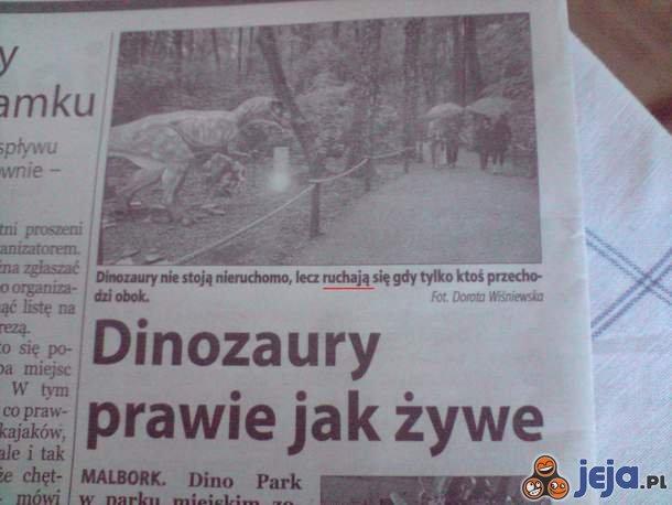 Co robią dinozaury?