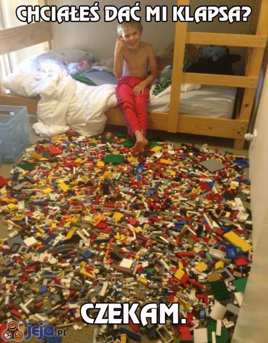 Pułapka z lego... szedłbym