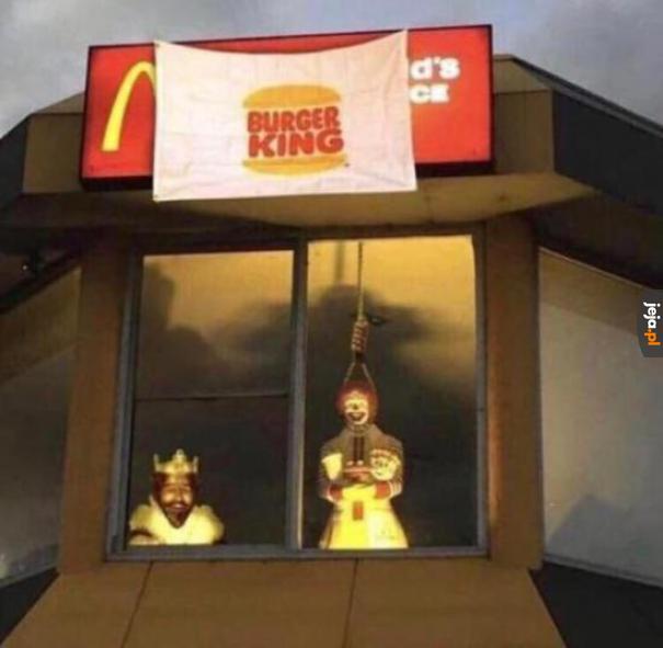 """""""Żaden klaun ze mną nie będzie konkurował"""" - powiedział Burger King"""