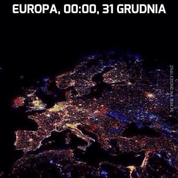 Europa, 00:00, 31 grudnia