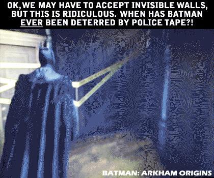 Nic nie powstrzyma Batmana... no chyba, że taśma policyjna