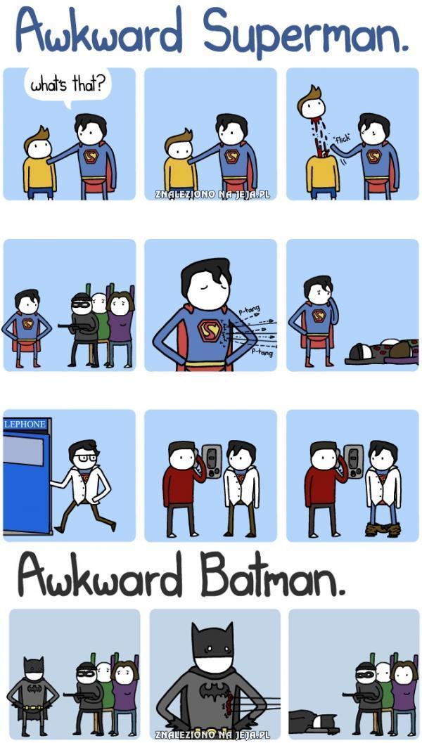 Różnica między Supermanem, a Batmanem