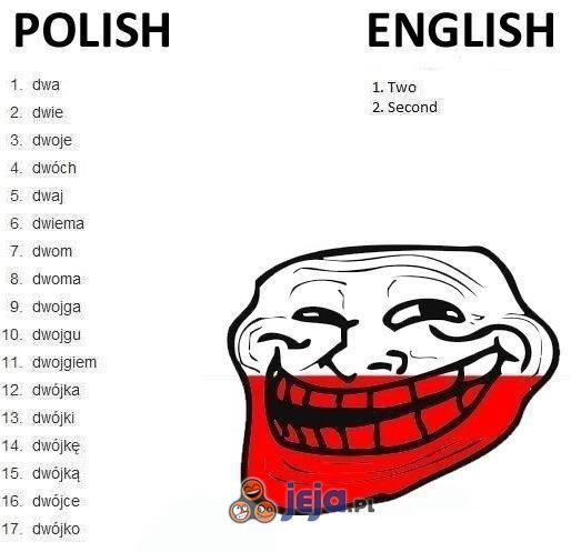Polski vs angielski