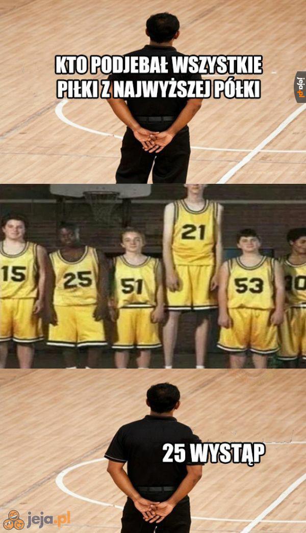 Trener chyba jakiś uprzedzony...