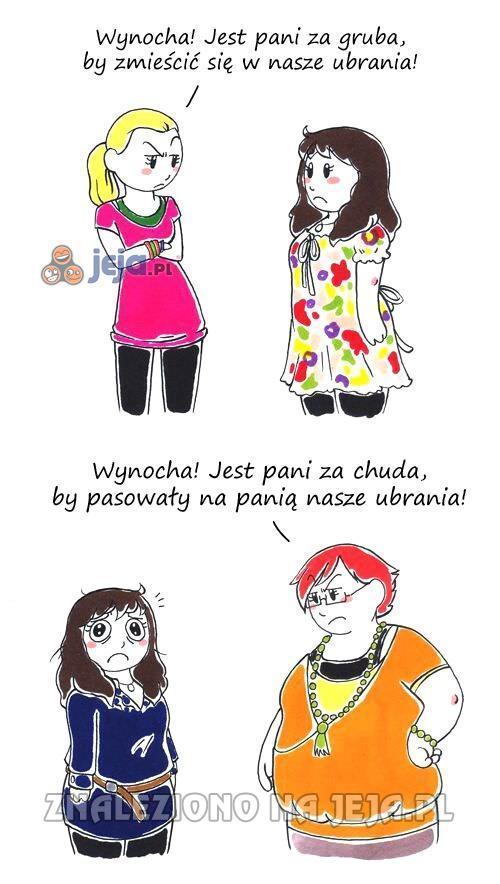 Okrągłe kobiety mają przerąbane