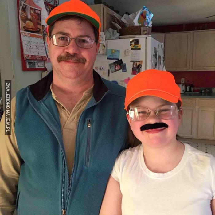 Córa ma wąsy po ojcu