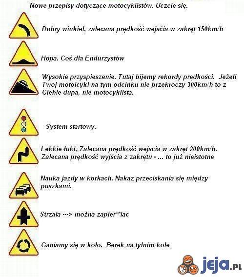 Nowe znaki dla motocyklistów