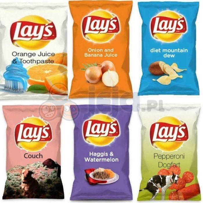 Okropne smaki chipsów