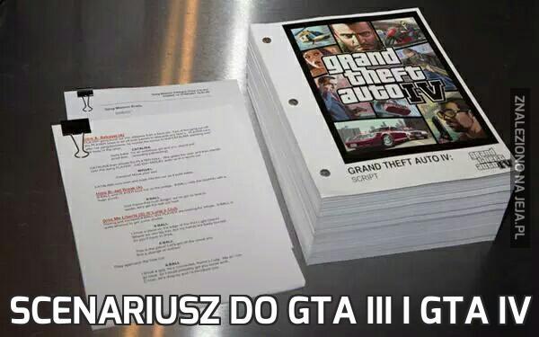 Scenariusz do GTA III i GTA IV