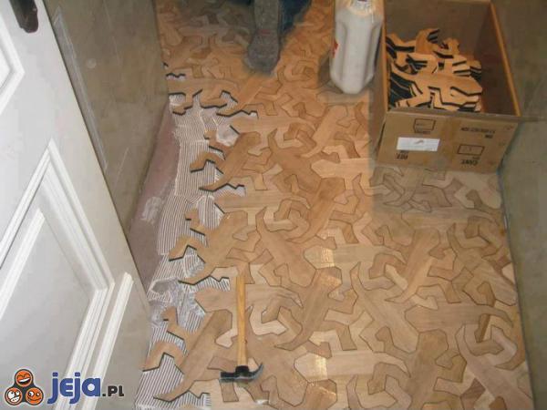 Fajną masz podłogę w domu