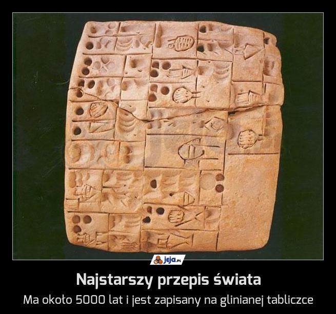 Najstarszy przepis świata