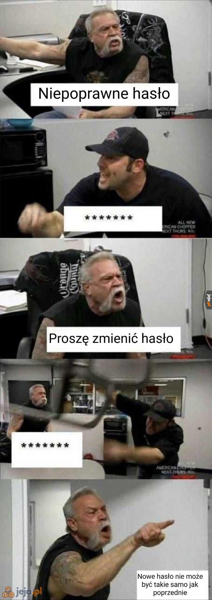 Problemy z hasłem