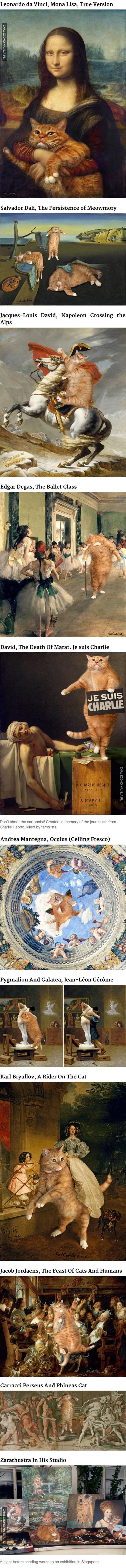 Koty na słynnych obrazach