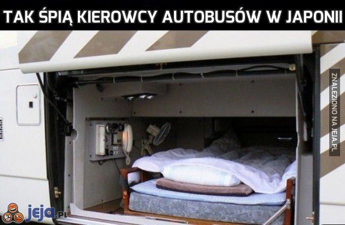 Tak śpią kierowcy autobusów w Japonii