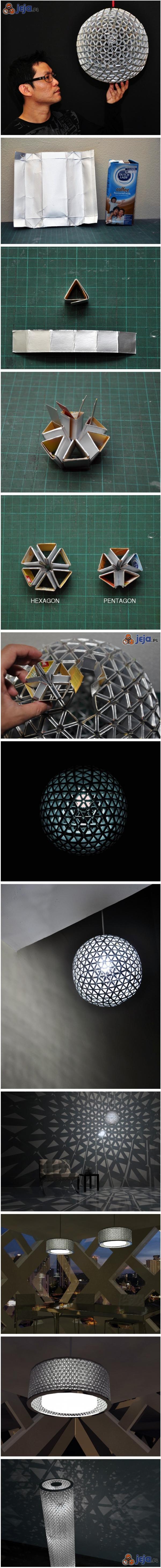 Lampy z kartoników tetra-pak